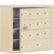 Cell Phone Locker with Access Panel 19148-14SSK - Surface Mounted Keyed Locks 12A&2B Doors Sandstone