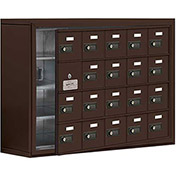 Cell Phone Locker with Access Panel 19148-20ZSC - Surface Mounted, Combo Locks, 20 A Doors, Bronze