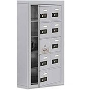 Cell Phone Locker with Access Panel 19155-09ASC - Surface Mounted Combo Locks 8A&1B Doors, Aluminum