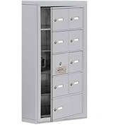 Cell Phone Locker with Access Panel 19155-09ASK - Surface Mounted Keyed Locks 8A & 1B Doors Aluminum
