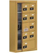 Cell Phone Locker with Access Panel 19155-09GSC - Surface Mounted, Combo Locks, 8A & 1B Doors, Gold