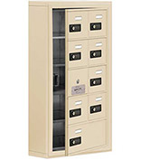 Cell Phone Locker with Access Panel 19155-09SSC - Surface Mounted Combo Locks 8A&1B Doors Sandstone