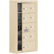 Cell Phone Locker with Access Panel 19155-09SSK - Surface Mounted Keyed Locks 8A&1B Doors Sandstone