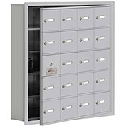 Cell Phone Locker with Access Panel 19155-20ARK - Recessed Mounted Keyed Locks, 20 A Doors, Aluminum