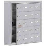 Cell Phone Locker with Access Panel 19155-20ASK - Surface Mounted, Keyed Locks, 20 A Doors, Aluminum