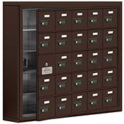 Cell Phone Locker with Access Panel 19155-25ZSC - Surface Mounted, Combo Locks, 25 A Doors, Bronze