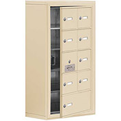 Cell Phone Locker with Access Panel 19158-09SSK - Surface Mounted Keyed Locks 8A&1B Doors Sandstone