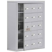Cell Phone Locker with Access Panel 19158-15ASK - Surface Mounted, Keyed Locks, 15 A Doors, Aluminum