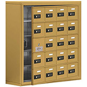 Cell Phone Locker with Access Panel 19158-20GSC - Surface Mounted, Combo Locks, 20 A Doors, Gold