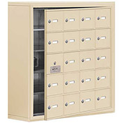 Cell Phone Locker with Access Panel 19158-20SSK - Surface Mounted Keyed Locks, 20 A Doors, Sandstone