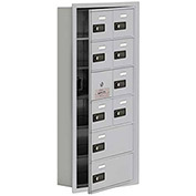 Cell Phone Locker with Access Panel 19165-10ARC - Recessed Mounted Combo Locks 8A&2B Doors Aluminum