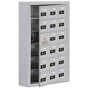 Cell Phone Locker with Access Panel 19165-18ASC - Surface Mounted, Combo Locks, 18 A Doors, Aluminum