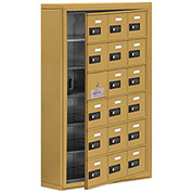Cell Phone Locker with Access Panel 19165-18GSC - Surface Mounted, Combo Locks, 18 A Doors, Gold