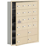 Cell Phone Locker with Access Panel 19165-20SRK - Recessed Mounted Keyed Lock 16A&4B Doors Sandstone