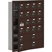 Cell Phone Locker with Access Panel 19165-20ZRC - Recessed Mounted Combo Locks 16A&4B Doors, Bronze