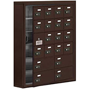Cell Phone Locker with Access Panel 19165-20ZSC - Surface Mounted Combo Locks 16A & 4B Doors, Bronze