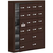 Cell Phone Locker with Access Panel 19165-20ZSK - Surface Mounted Keyed Locks 16A & 4B Doors, Bronze