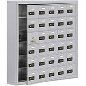 Cell Phone Locker with Access Panel 19165-30ASC - Surface Mounted, Combo Locks, 30 A Doors, Aluminum