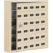 Cell Phone Locker with Access Panel 19165-30SSC - Surface Mounted, Combo Locks 30 A Doors, Sandstone