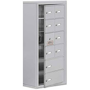 Cell Phone Locker with Access Panel 19168-10ASK - Surface Mounted Keyed Locks 8A & 2B Doors Aluminum