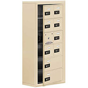 Cell Phone Locker with Access Panel 19168-10SSC - Surface Mounted Combo Locks 8A&2B Doors Sandstone
