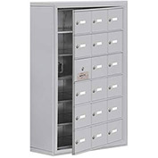 Cell Phone Locker with Access Panel 19168-18ASK - Surface Mounted, Keyed Locks, 18 A Doors, Aluminum