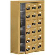 Cell Phone Locker with Access Panel 19168-18GSC - Surface Mounted, Combo Locks, 18 A Doors, Gold