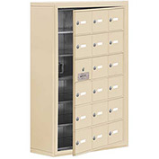 Cell Phone Locker with Access Panel 19168-18SSK - Surface Mounted Keyed Locks, 18 A Doors, Sandstone