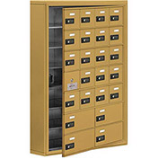 Cell Phone Locker with Access Panel 19175-24GSC - Surface Mounted, Combo Locks, 20A & 4B Doors, Gold