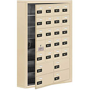 Cell Phone Locker with Access Panel 19175-24SSC - Surface Mounted Combo Locks 20A&4B Doors Sandstone