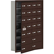 Cell Phone Locker with Access Panel 19175-24ZRK - Recessed Mounted Keyed Locks 20A & 4B Doors Bronze