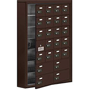 Cell Phone Locker with Access Panel 19175-24ZSC - Surface Mounted Combo Locks 20A & 4B Doors, Bronze