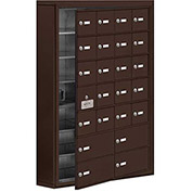 Cell Phone Locker with Access Panel 19175-24ZSK - Surface Mounted Keyed Locks 20A & 4B Doors, Bronze