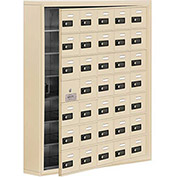 Cell Phone Locker with Access Panel 19175-35SSC - Surface Mounted, Combo Locks 35 A Doors, Sandstone