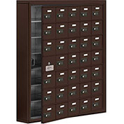 Cell Phone Locker with Access Panel 19175-35ZSC - Surface Mounted, Combo Locks, 35 A Doors, Bronze
