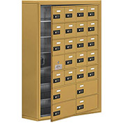 Cell Phone Locker with Access Panel 19178-24GSC - Surface Mounted, Combo Locks, 20A & 4B Doors, Gold