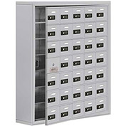 Cell Phone Locker with Access Panel 19178-35ASC - Surface Mounted, Combo Locks, 35 A Doors, Aluminum