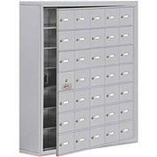 Cell Phone Locker with Access Panel 19178-35ASK - Surface Mounted, Keyed Locks, 35 A Doors, Aluminum