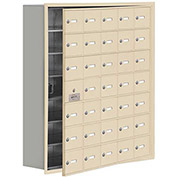 Cell Phone Locker with Access Panel 19178-35SRK - Recessed Mounted Keyed Locks 35 A Doors, Sandstone