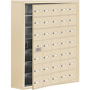 Cell Phone Locker with Access Panel 19178-35SSK - Surface Mounted Keyed Locks, 35 A Doors, Sandstone