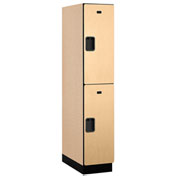 Salsbury Extra Wide Designer Wood Locker 22164 - Double Tier 1 Wide 15x24x36 Maple Assembled