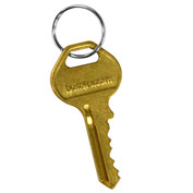 Salsbury Master Control Key 22216 for Built-In Key Lock of Extra Wide Designer Wood Locker Gold