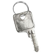 Salsbury Master Control Key 22221 for Combo Padlock of Extra Wide Designer Wood Locker Silver