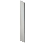 "Salsbury Side Panel 22234 for 18""D Extra Wide Designer Wood Locker with Sloping Hood Gray"