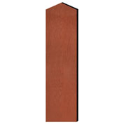 "Salsbury Double End Side Panel 22244 for 18""D Extra Wide Designer Wood Locker W/Sloping Hood Cherry"