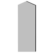 """Salsbury Double End Side Panel 22247 for 24""""D Extra Wide Designer Wood Locker W/Sloping Hood Gray"""
