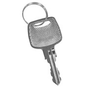 Salsbury Master Control Key 22296 for Combo Lock of Extra Wide Designer Wood Locker Door Silver