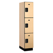 Salsbury Extra Wide Designer Wood Locker 23161 - Triple Tier 1 Wide 15x21x24 Maple Assembled