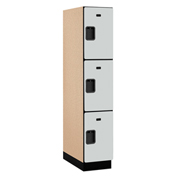 Salsbury Extra Wide Designer Wood Locker 23164 - Triple Tier 1 Wide 15x24x24 Gray Assembled