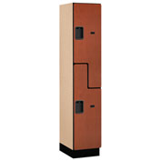 Salsbury Extra Wide Designer Wood Locker 27168 - Z-Style 1 Wide 15x18x72 Cherry Assembled